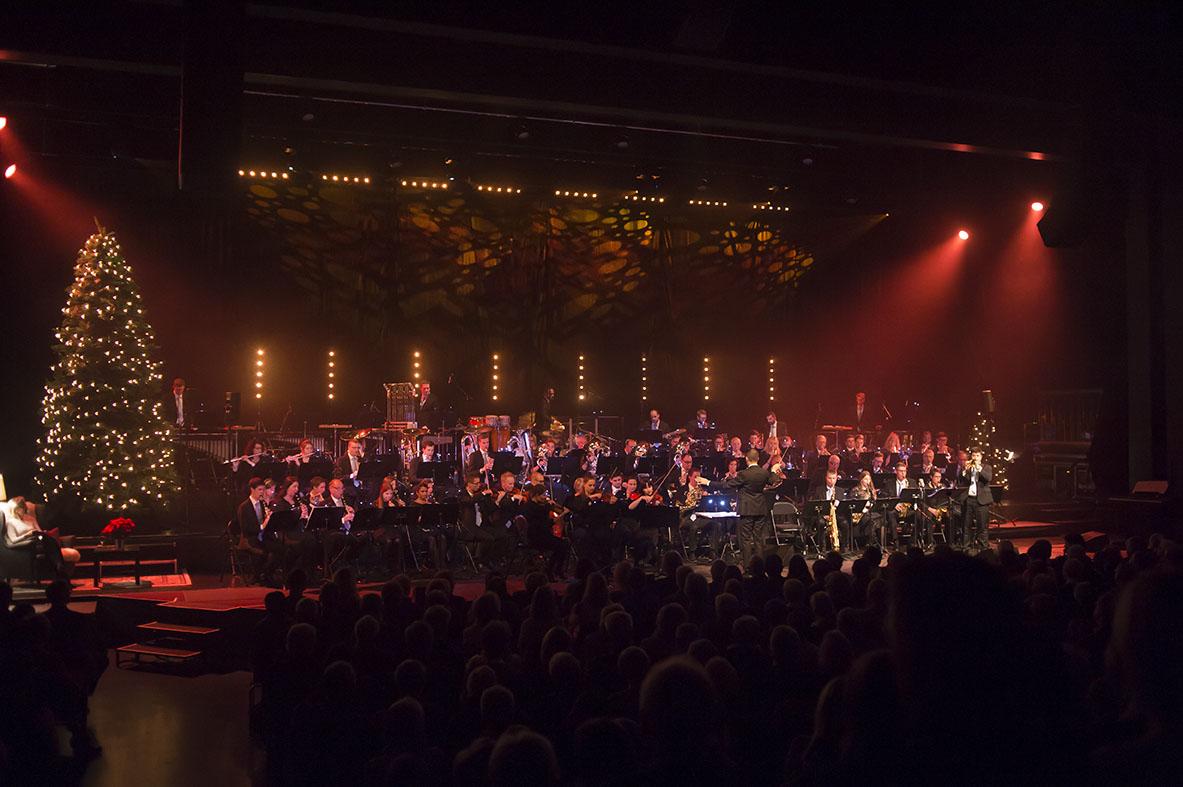 Lucerne Concert Band Weihnachtskonzert 2017 mit Pepe Lienhard. Luzern, den 16.12.2017 Copyright: Lucerne Concert Band / Priska Ketterer