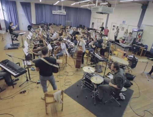 Hier proben die Baba Shrimps zusammen mit der Lucerne Concert Band