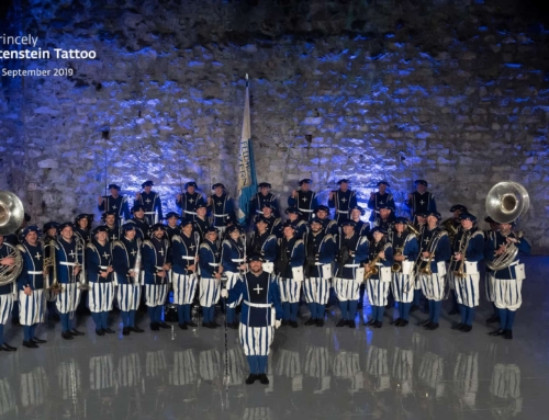 "Die Lucerne Marching Band am ""The Princely Liechtenstein Tattoo"" – ein wahres Highlight"